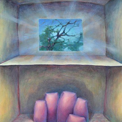 《アパートメント》oil on canvas , 455×380mm , 2018