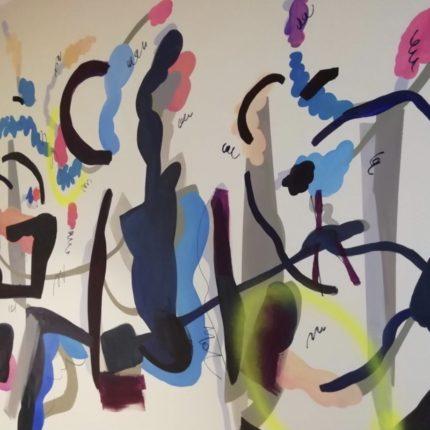 「色のナル場所」, リキテックスアクリル, 壁画, 2019