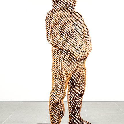 title: anonymous - human#4  materials: iron  size: H1820x w870 x D895  year: 2017