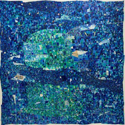 あの日へ繋がる青の風景 キャンバスに油彩 2020 S100(162/162cm)