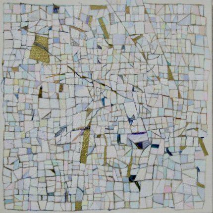 雪の絨毯 キャンバス に油彩 2019  23/23cm