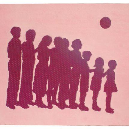 Dawn Silhouette, 2021, Acrylic paint on canvas, H32×W40.7cm